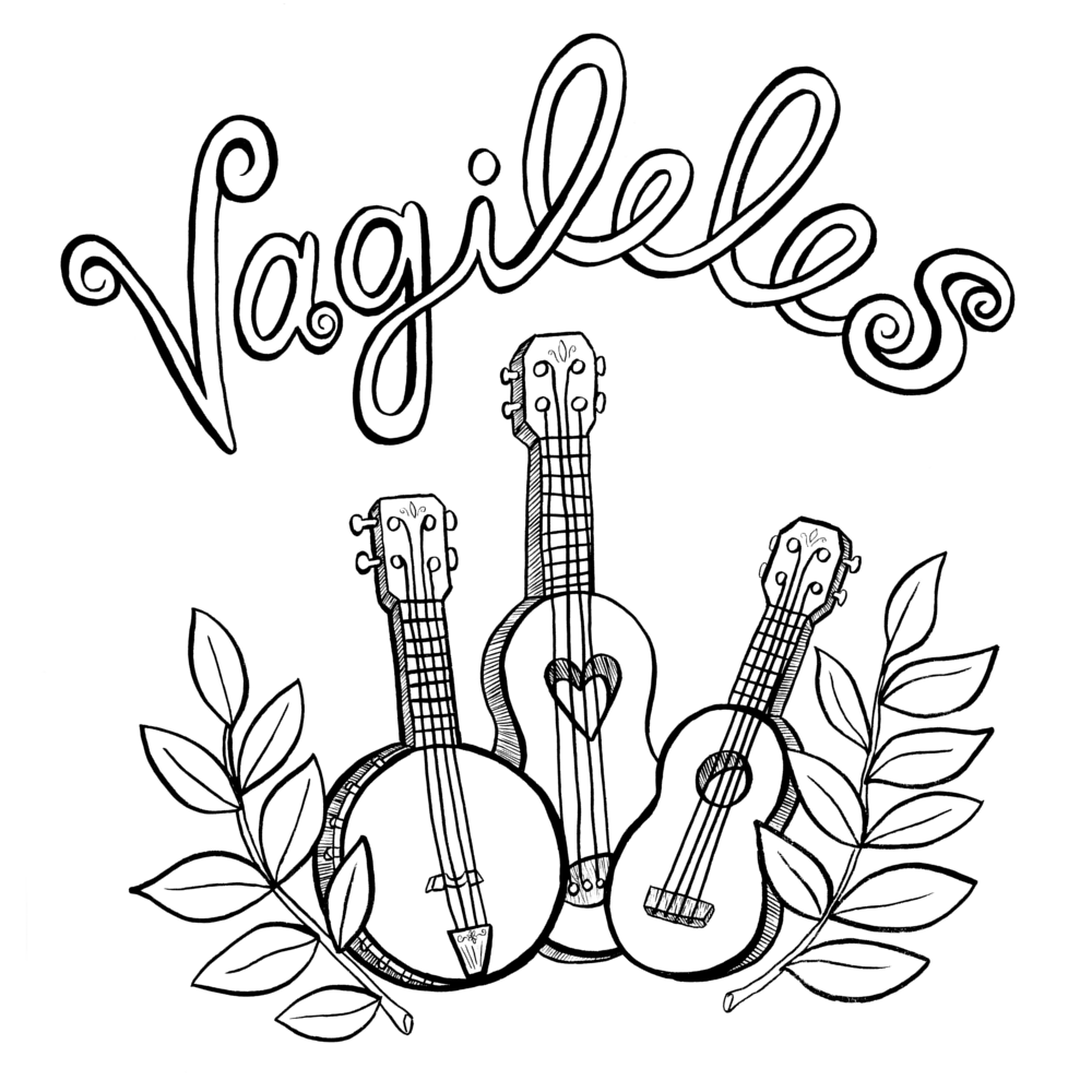 The Vagileles are and all lady ukulele trio that play sweet tunes and merry melodies.